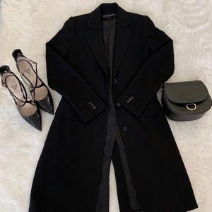 Like New Sleek French Connection Long Black Blazer